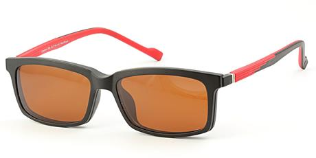 Cooline 058 red/black 2V1 54/16/142 + clip-on